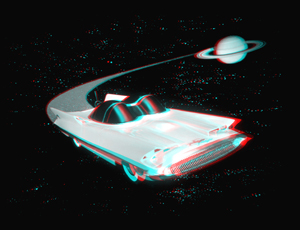 Lincoln Futurra Dream Car 3-D Anaglyph Image